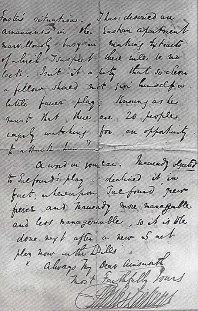 charles dickens handwriting