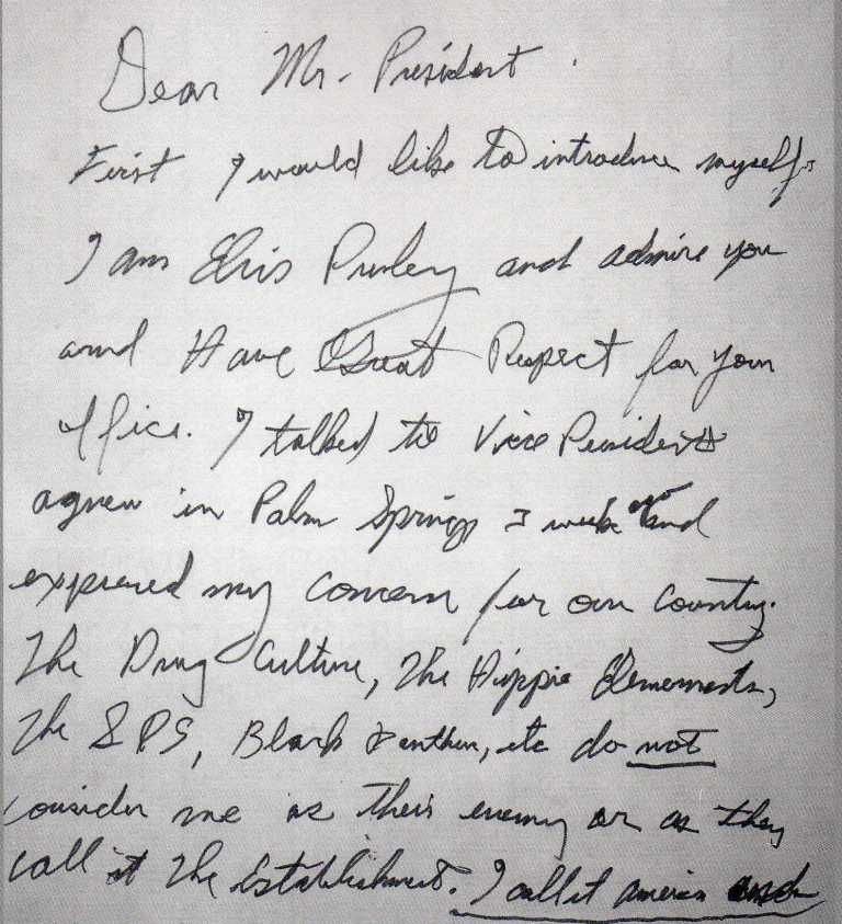 Elvis Presley's Handwriting
